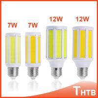 Super Bright COB 7W 12W  led lamps COB SMD LED corn bulb light E27 white/Warm White 220V/110V Free Shipping