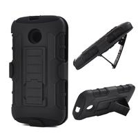 For Moto E Future Armor Impact Hybrid Hard Case Cover+Belt Clip Holster Kickstand Phone Cases for MOTOROLA MOTO E XT1021 XT1022