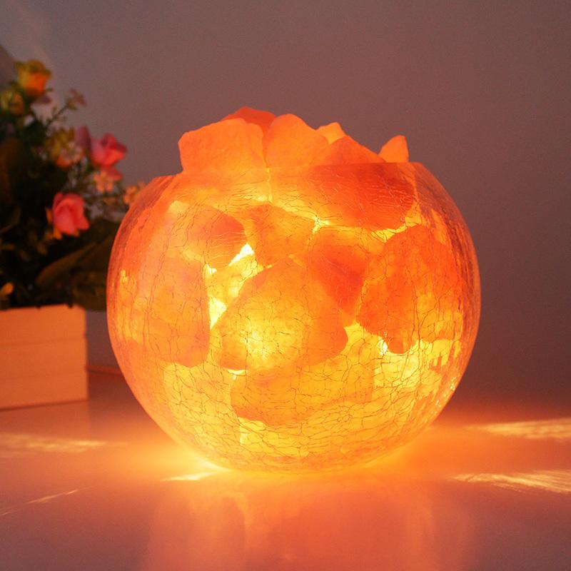 Ena Himalayan salt lamps dimmable s class creative modern minimalist bedroom bedside lamp ...
