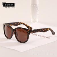 Vintage Cat Eye Rivets Good Quality Sunglasses New 2014 Brand Designer leopard Glasses Women Men Oculos de sol