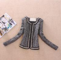 Winter Wool Jacket Coat Women Outerwear Grey Patchwork Thick Short Coats Slim Parka Woolen Overcoat Plus Size Coat