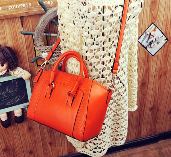 Hot Free shipping PU women messenger bags fashion lady sholder bag women black leather tote bag(China (Mainland))