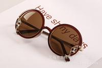 Hot Selling New 2014 Sunglasses Fashion Glasses Coating Sunglass Round lens Gafas women men brand oculos de sol 10 pcs/lot