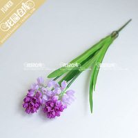 (5 pcs/lot) Purple white green silk artificial hyacinth flower for home decoartion wedding decoration christmas decoration