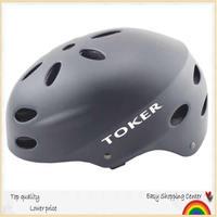 Toker professional BMX mountain bicycle/bike helmet.scoorter&skating/hip-hop helmet,S/M/L size Metallic black,free shipping
