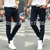 Men's jeans Fashion trends slim pencil pants show thin elastic