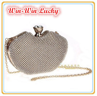 New Female Bag Top Quality Meshed Diamond Women Evening Bag Day Clutch Purses Bling Wedding Bridal Handbag With Chain 3 Color
