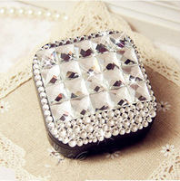 FREE SHIPPING Crystal Rhinestone CONTACT LENSES BOX&CASE 1PIECES/LOT CONTACT LENSES CARE TOOL GIFT