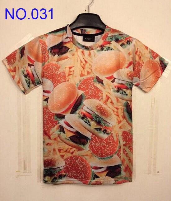 14 new Fashion men's clothing creative print mens t shirts 3D T shirt short sleeve men's T-Shirt women's t shirts Small Hamburg(China (Mainland))