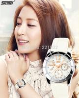 Hot fashion female form SKMEI Korean version of the exquisite genuine lady belt really belt quartz watch students watch