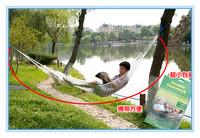 Free shipping nylon rope hammock /outdoor hammock 2PCS/SET High quality Mesh Hammock