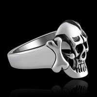 MY007 New Arrival Stainless Steel Jewelry Cool Individual For Men/Women Punk Style  GOMAYA HELLSING SKULL Ring