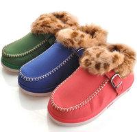 NEW fur inside Winter women loafers soft flat shoes women fashion sneakers warm women's shoes free shipping AS-W