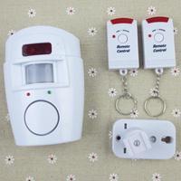 New Wireless IR Infrared Motion Sensor Detector Alarm Remote Home Security System 1set