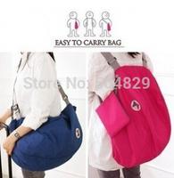 wholesale 100 pcs 3 way multifunction foldable  shoulder messenger travel iconic bag   travel handbag