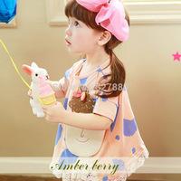 Amber berry 4328 latest Korean brand children's clothing girls summer models doll t-shirt shirt