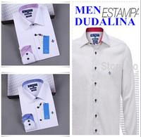 2014 polo camisa masculina shirt camisa DUDALINA roupas casual men male imported clothing xadrez blusa masculina tommis