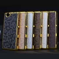 2014 New Luxury Gold Chrome Diamond Design Hard Case Cover for Sony Xperia Z1 mini Compact D5503  Lily's Shop