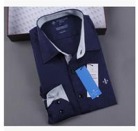 2014 men's dress Long sleeve dudalina brand casual tommy social camisa xadrez shirts Striped slim fit masculina business shirt