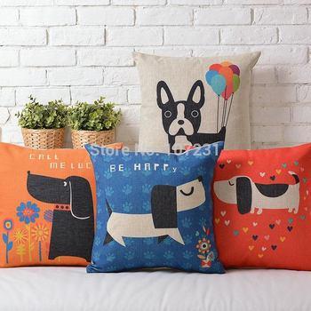 Ikea 45 X 45 см ретро подушка чехол красочный такса собака чехлы милые щенки наволочку ...