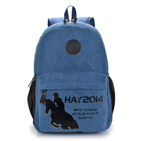 Fashion French style canvas Backpack USA new canvas horse backpack schoolbag MHJ2013 laptop bag large students casual  rucksack