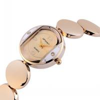 25MM Mini Case Women Dress Watches Luxury Gold Bracelet Wristwatch Quartz Analog Clock Korea Fashion Elegant Relojes 1ATM NW1741