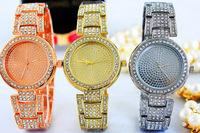 Vogue Girls Fashion Gold Bracelet Watch Crystals Women Dress Clock Vintage European Style Quartz Bangle Wristwatch Reloj NW1747