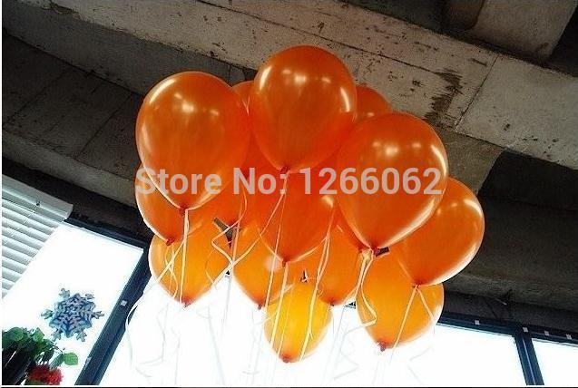 Free Shipping 100pc/Lot 10 Inch 1.5g Orange latex Balloon Festive Supplies Party Decoration Balloons(China (Mainland))