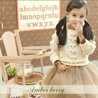 amber berry 1111 new Korean children's clothing girls winter coat lovely warm sweater