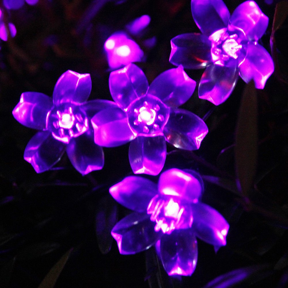 -50-Led-Solar-String-Lights-Outdoor-Fairy-Purple-Blossom-Decorative-Gardens-Indoor-Christmas ...