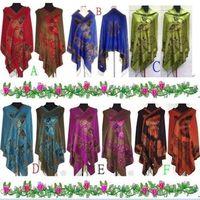 Wholesale New Style Butterfly Pashmina Scarf Wrap Shawl 55% Pashmina 45% Silk