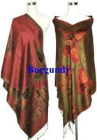 2014 Double-Side RED Women's Butterfly New Pashmina Silk Shawl Scarf Wraps 2**2
