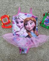 New 2014 Girls Kids Children Frozen Elsa Anna One Pieces Swimsuit Swimwear 3-8T Cute Swim Clothes Sunbath Beach Surfing