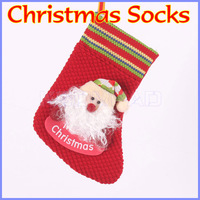 Christmas Socks cotton material decoracao de natal enfeites sock for Christmas decoration ornament indoor outdoor display