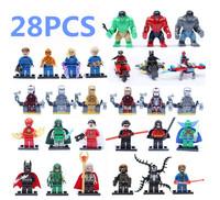 Super Hero Hulk Batman chariot Action Figure 28PCS/LOT DIY Building Block Sets Toys For Children Compatible With Lego T82
