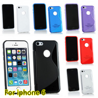 For iphone 6 6G Case TPU S line Scratch-Resistant Soft Gel Case Cover