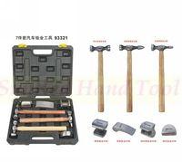SunRed BESTIR taiwan made tool steel 7pcs  sheet metal hammer set automotive flattening tool NO.93321