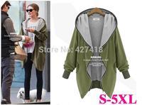 New 2014 Women Hoody Plus Size Autumn Winter Hot Sale Sweatshirts Hooded Zipper Cardigan Coat Big Size Fat Woman Hoodies