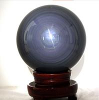 AAA+++Natural Obsidian Rainbow Eye Sphere Ball Feng Shui Ball Furnishing Articles 25MM--30MM