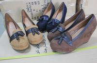 New Fashion Patchwork Round Toe Platform High Heels Women Wedges Vintage Flock Tassel Women Pumps Casual Wedges Shoes For Women