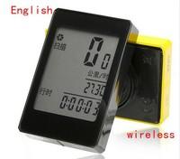 English Multifunction Touch Screen Backlight Wireless Waterproof Bicycle Computer Odometer Bike Speedometer Clock Stopwatch