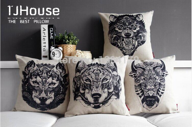 Online kopen Wholesale wolf kussens uit China wolf kussens Groothandel ...