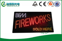 High brightness 24*48cm LED acrylic sign /Low price high quality led open sign /Animaltional electronic open sign