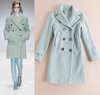 Free shipping 2014 fall and winter clothes High quality Big style long-sleeved wool coat Slim