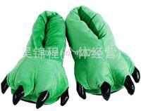 2014creative PAWS warm feet warm Plush cartoon cotton slippers soft bottom couples men and women