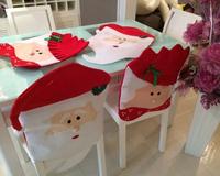 Wholesale 10 pcs / 5 sets HOT Sale Mr & Mrs Santa Claus Christmas Chair Covers INDOOR CHRISTMAS DECORATION Supplies
