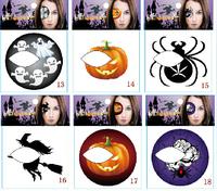 eye shadow stickers convenience make-up eye shadow stickers halloween decoration halloween pumpkin party eye temporary tattoo