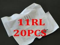 11RL  20Pcs  Tattoo & Permanent Makeup Rotary Machine Needles Tips Eyebrow Lips Make Up