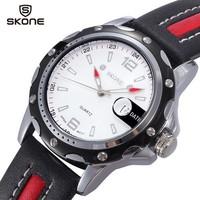 Men Quartz Watch PU Leather Strap Analog Display Calendar Waterproof Military Wristwatches 2014 New Luxury Brand Fashion Clock