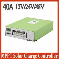 Ecnomical 40A 12V/24V/48V auto MPPT solar charge controller with RS232 communication Max.PV input 100V DC